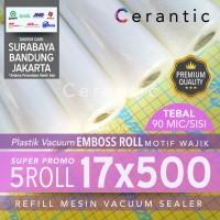 Plastik Vacuum Emboss ROLL 17x500 cm Super Promo isi 5 roll