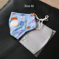 Masker Anak PM 2.5 White Valve Incld Filter Size M - Blue Bear