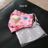 Masker Anak PM 2.5 White Valve Incld Filter Size M - Pink Candy