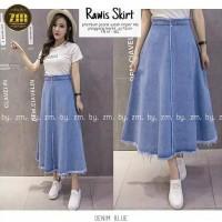 Rok Panjang Jeans Wanita Rawis Skirt Zm