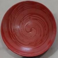 Dinner Plate Red Snail| Piring Hias Siput Merah|P.Saji |Ekspor Murah