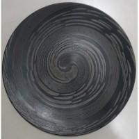 Dinner Plate Black Snail| Piring Hias Siput hitam|P.Saji|Ekspor Murah