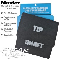 Master Cue Tip Tool - Burnish Reshape Sponge Alat Stick Shaft Billiard