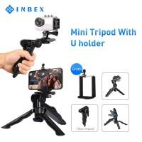 INBEX Mini Tripod hp Kamera Paket VLOG Folding Holder U Portable