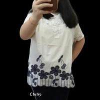 Promo blouse Astrit import katun kombinasi brukat