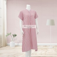 Vertical Red Stripes Home Dress