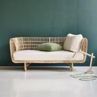 Bangku rotan alami terbaru kursi sofa santai full busa