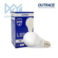 [BELI 1 GRATIS 1] Lampu LED OUTRACE 7 Watt 6500K Bulb E27 Murah