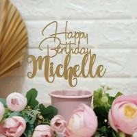 Custom Cake Topper Happy Birthday size M