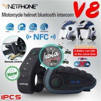 INTERCOM V8 BLUETOOTH VNETPHONE HELMET INTERPHONE FREE REMOTE ORIGINAL