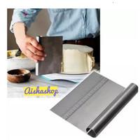 Pastry scraper, dough cutter, cake scraper/ scraper kue stainless-AS95