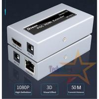 HDMI Extender 50 M Via Kabel LAN CAT5e/6 1080P Support POC