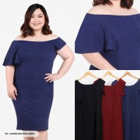 Dress Jumbo/Dress Big Size Kairee Plain Bodycon Mini Dress