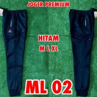 Celana Panjang Training/Joger REEBOK Black/Hitam ML02