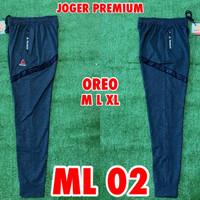 Celana Panjang Training / Joger REEBOK Grey/Oreo ML02