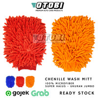 Chenille Wash Mitt Sarung Tangan Cuci Mobil Motor Cendol Noodle Mie
