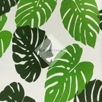 Kain Kanvas Monstera Hijau canvas bahan daun tropis monstera green