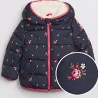 Jaket Winter Anak Brand Baby Gap /Size 6-12m sd 5T (Motip Bunga Hitam)