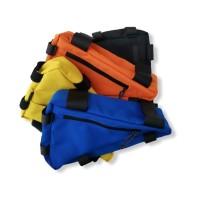 Aksesoris sepeda (tas segitiga/triangle bag) - High Quality - Biru