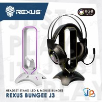 Rexus Bungee J3 Headset/ Headphone/ Mouse Gaming Stand Tower RGB