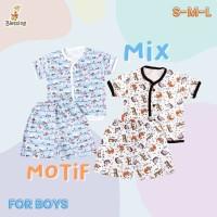 Blessing Babywear-baju tangan pendek dan cln pendek bayi boys SZ:S-M-L