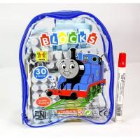 Mainan Anak Lego Block Thomas 30Pcs Tas Mainan Edukasi Anak
