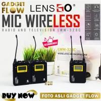 Microphone Mic Wireless Dual LensGo LWM 328C Double Kamera Smartphone