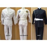 Baju Setelan Beladiri Taekwondo / Pencak Silat / Karate