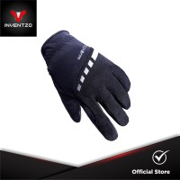 INVENTZO Torino Black Black - Sarung Tangan Motor Sensitive Touch Tip