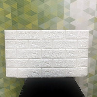 Wallpaper Dinding 3D Bata Putih 38 x 70 cm Brick Foam Stiker/ sticker