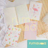 RUMAUMA Buku Catatan Tulis Bergaris Notebook Diary Agenda A5 Lucu Unik
