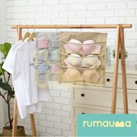 RUMAUMA Gantungan Bra 2 Sisi Pakaian Dalam Storage Bag 9 Kantong Murah
