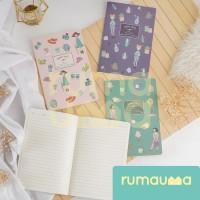 RUMAUMA Notebook Smile Days 30 Lembar Journal Planner Agenda Vintage