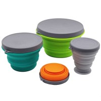 Gelas Lipat Silikon Foldable Travel Mug 500ml - GY1000 - Blue Produk
