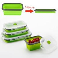Kotak Makan Foldable Healthy Bento Lunch Box Eco Friendly 800ml