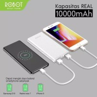 POWER BANK ROBOT RT-160 10000MAH ORIGINAL 100% PORTABLE USB POWERBANK