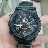 jam tangan pria nixon all black chronograph