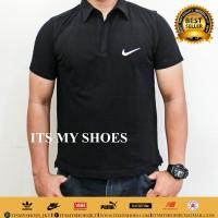 Kaos Polo Pria Nike-Grade Ori-Dri Fit-Hitam