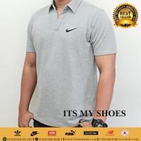 Kaos Polo Pria Nike-Grade Ori-Dri Fit-Abu