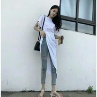 blouse asimetris white