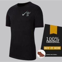 Kaos Pria Original Kaos Nike Wild Run Globe Dry Tee - Black