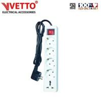 VETTO Stop kontak 5 Lubang 5 meter Full Universal SNI -V8205/5M+TB
