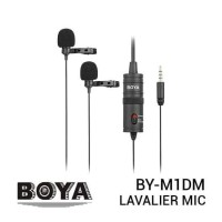 BOYA BY-M1DM Dual Clip-On Microphone for DSLR Camera, Smartphone