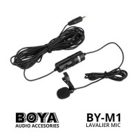 BOYA BY-M1 Lavalier Microphone for smartphones DSLR Camcorders