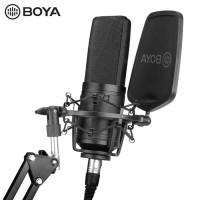 BOYA BY-M1000 Large Diaphragm Cardioid Condenser Microphone Mic