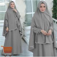 Dress Ayu 3in1 Big Size Busui Gamis Maxi Dress Muslim Jumbo