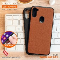 Soft Canvas Case Samsung A11 Softcase Hard Silikon Casing Cover Jelly