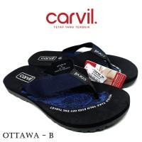 Sandal Pria Carvil Original Anti Air - Sendal Carvil Pria Ottawa Blue