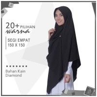 Jilbab Segiempat Polos JUMBO 150x150 Kerudung Segi Empat Syari Diamond
