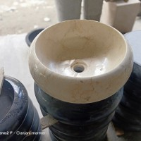 wastafel batu alam marmer unik 35cm